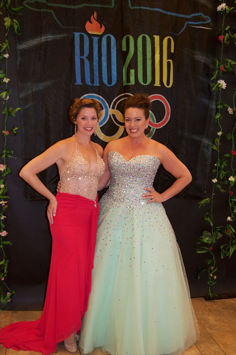 Sopranos Leah Edwards and Jessica Medoff delighted guests at Rio Nights to support the Edwards Interfaith Chapel and Community Center.