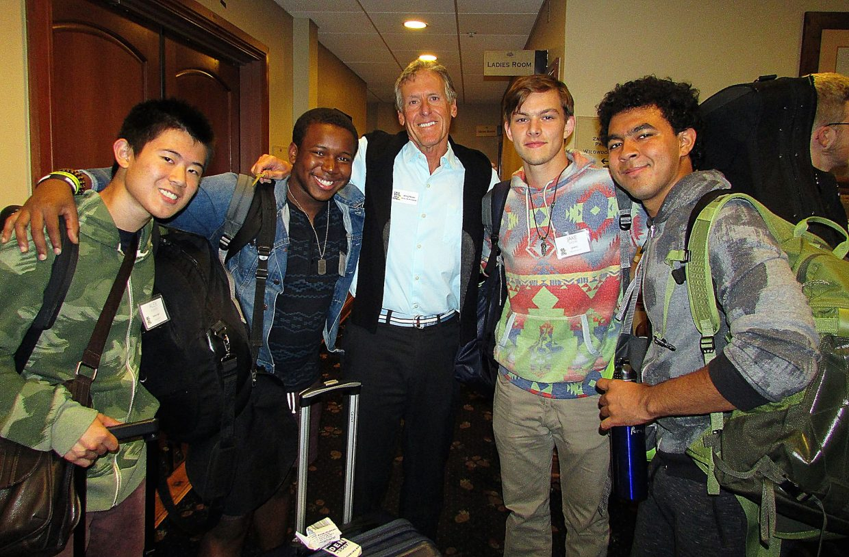 Brian Richburg and Alex Yuwen, with Wing Mayer and Jake Sasfai and Jasim Perales.