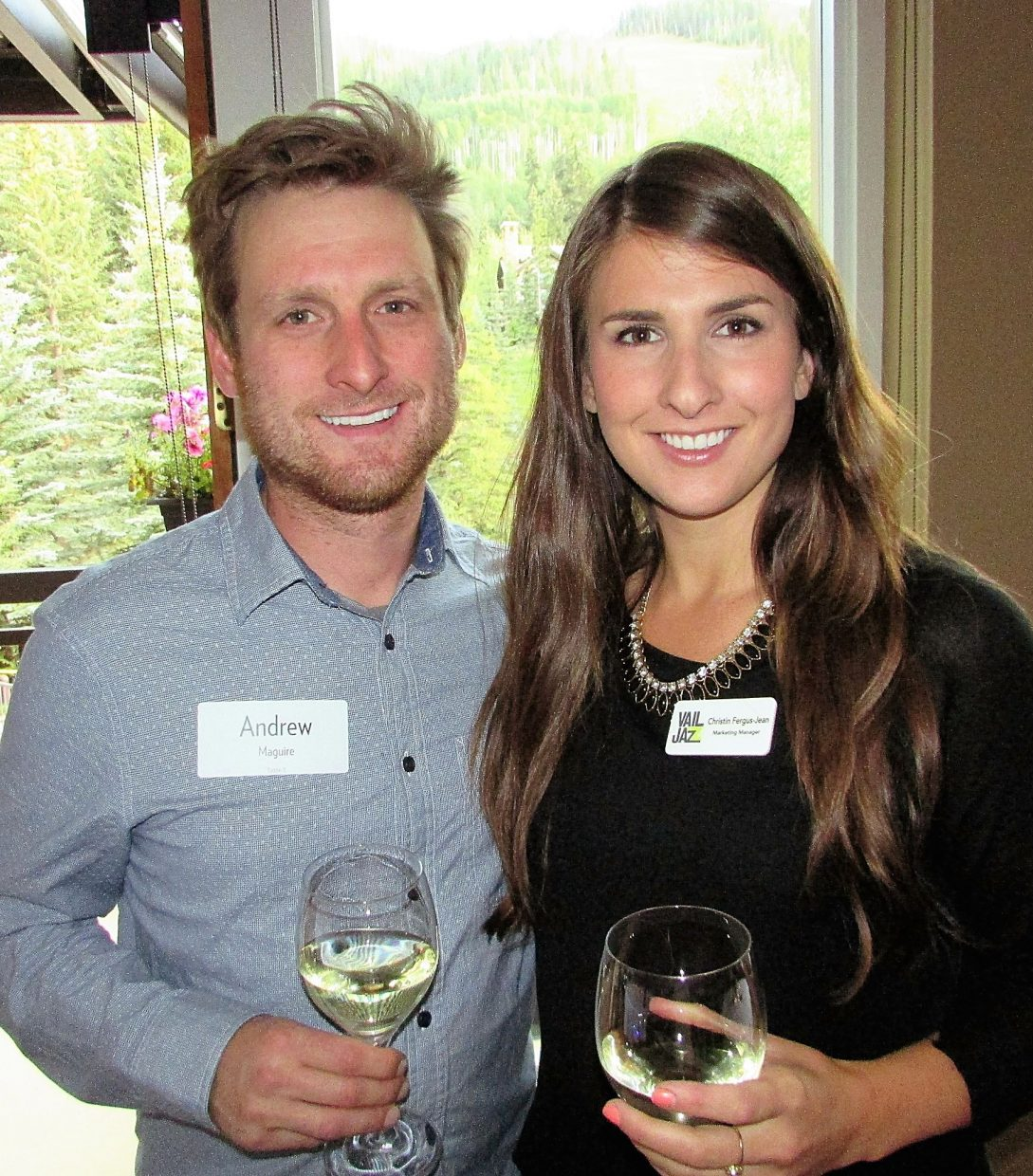 Andrew Maguire and Kristin Fergus-Jean, marketing manager for the Vail Jazz Festival.