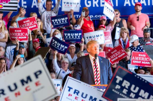 Presidential Candidate Donald Trump talked for roughly 45 minutes to a crowd of thousands of people at the Grand Junction Regional Airport on Tuesday afternoon.