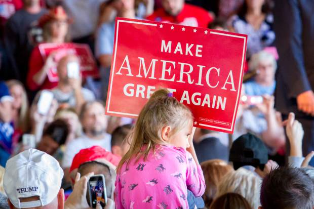 A young supporter of presidential candidate Donald Trump.