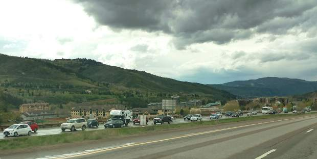 Eastbound traffic backs up Sunday west of Vail, one of the top five trouble spots on I-70 between Denver and Utah.