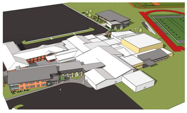 This is what artists conceive Eagle Valley High School will look like when it's finished.
