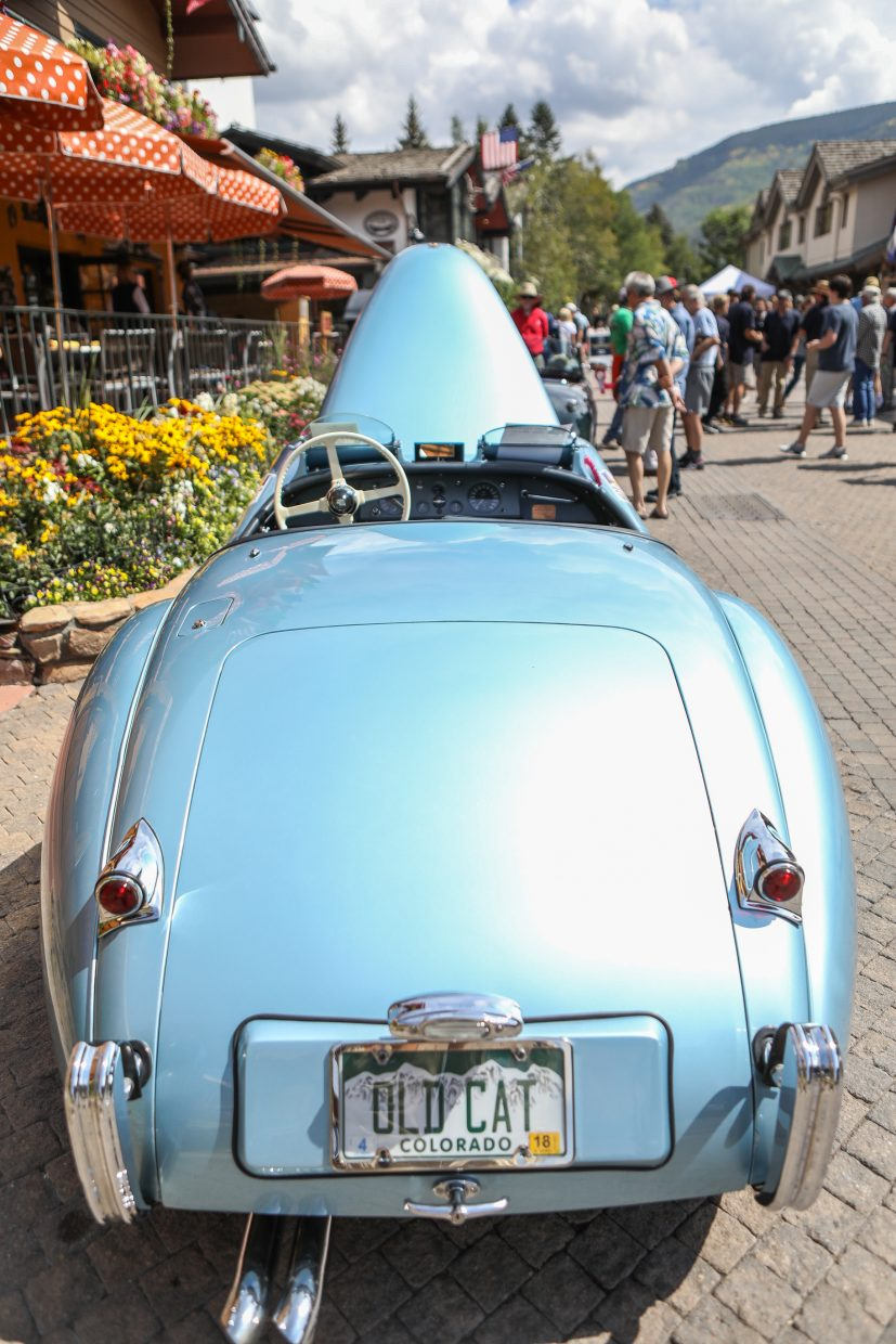 People browse the classic cars during the Vail Village Car Show Sunday, Sept. 10, in Vail. Cars of all kinds and ages lined the streets of Vail Village in this judged show.