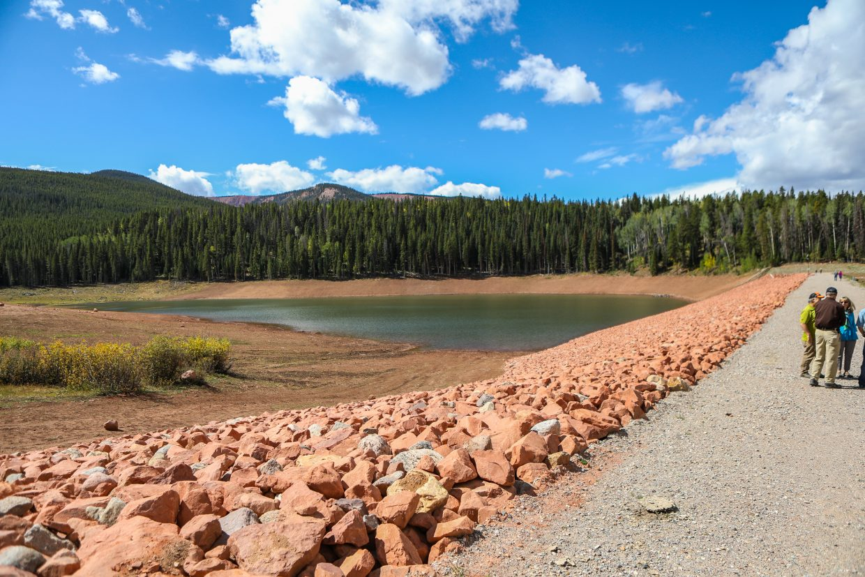 Tours of the new L.E.D.E Reservoir and damn were given Thursday, Sept. 14, in Gypsum. The total cost of the project cost $6 million.