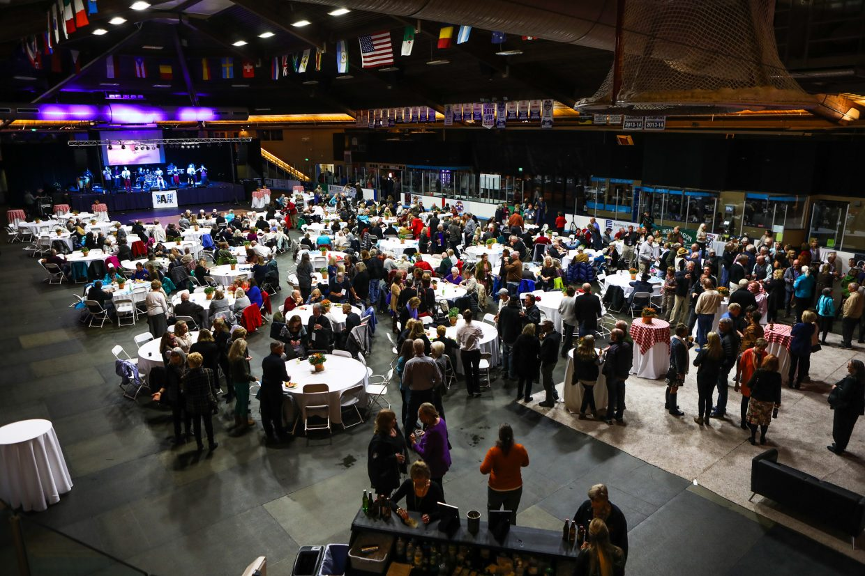 People gather for the Vail Pioneer Weekend dinner Saturday, Sept. 23, at Dobson Ice Arena in Vail. The event ran Thursday, Sept. 21, to Sunday, Sept. 24, in Vail.
