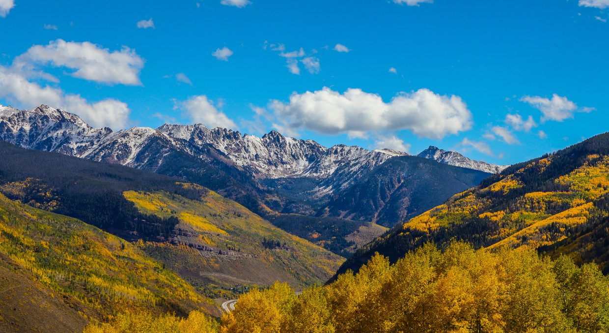 Gore Range, snow and colors in Vail.
