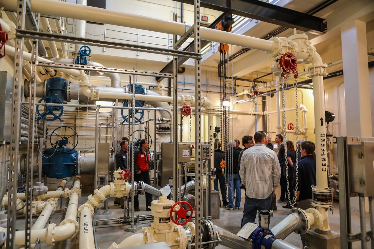 People tour the updated water treatment facility during the Eagle River Water and Sanitation District's open house Tuesday, Sept. 26, in Edwards. The updates took about five years to complete.