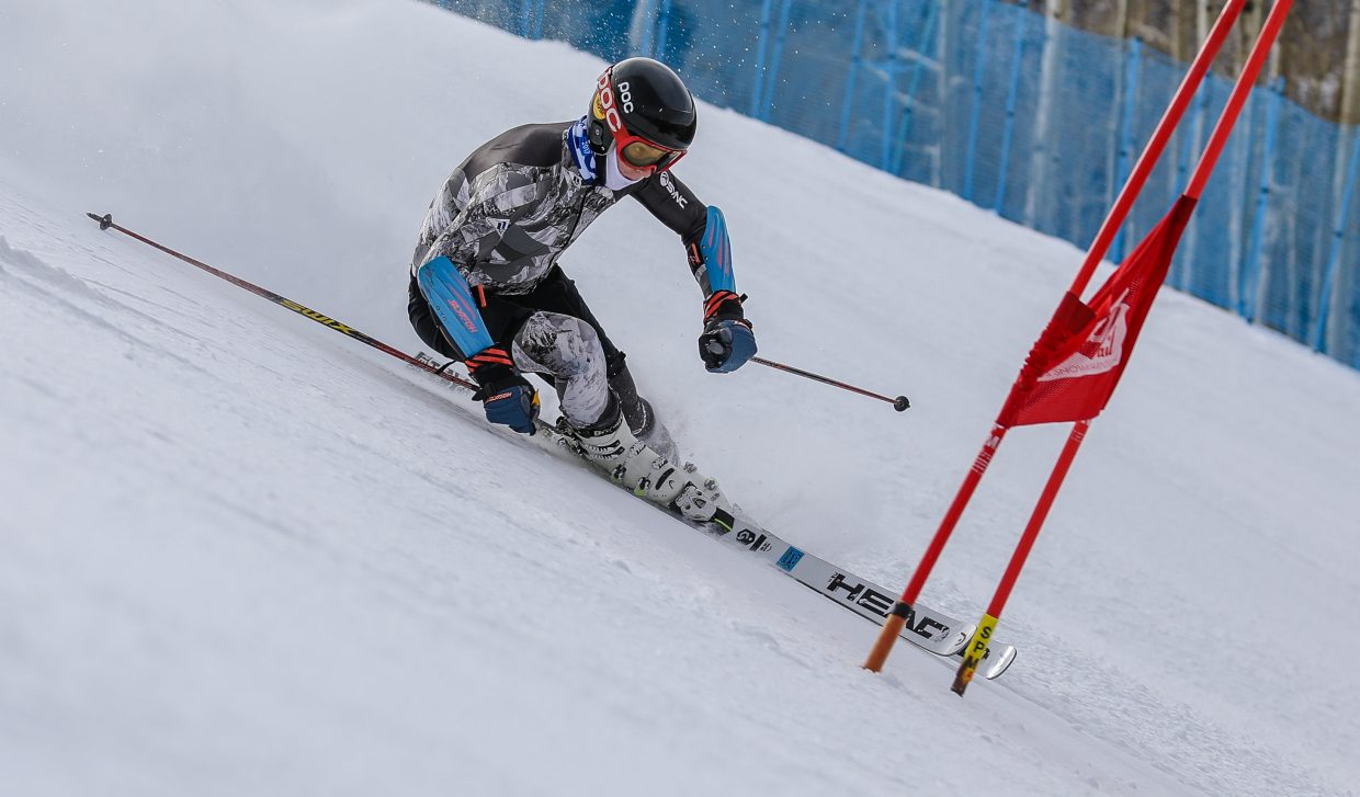 Max Bervy makes turns on the newly-opened Gold Peak Training Center Monday, Nov. 20, in Vail. The center opened Monday for training.