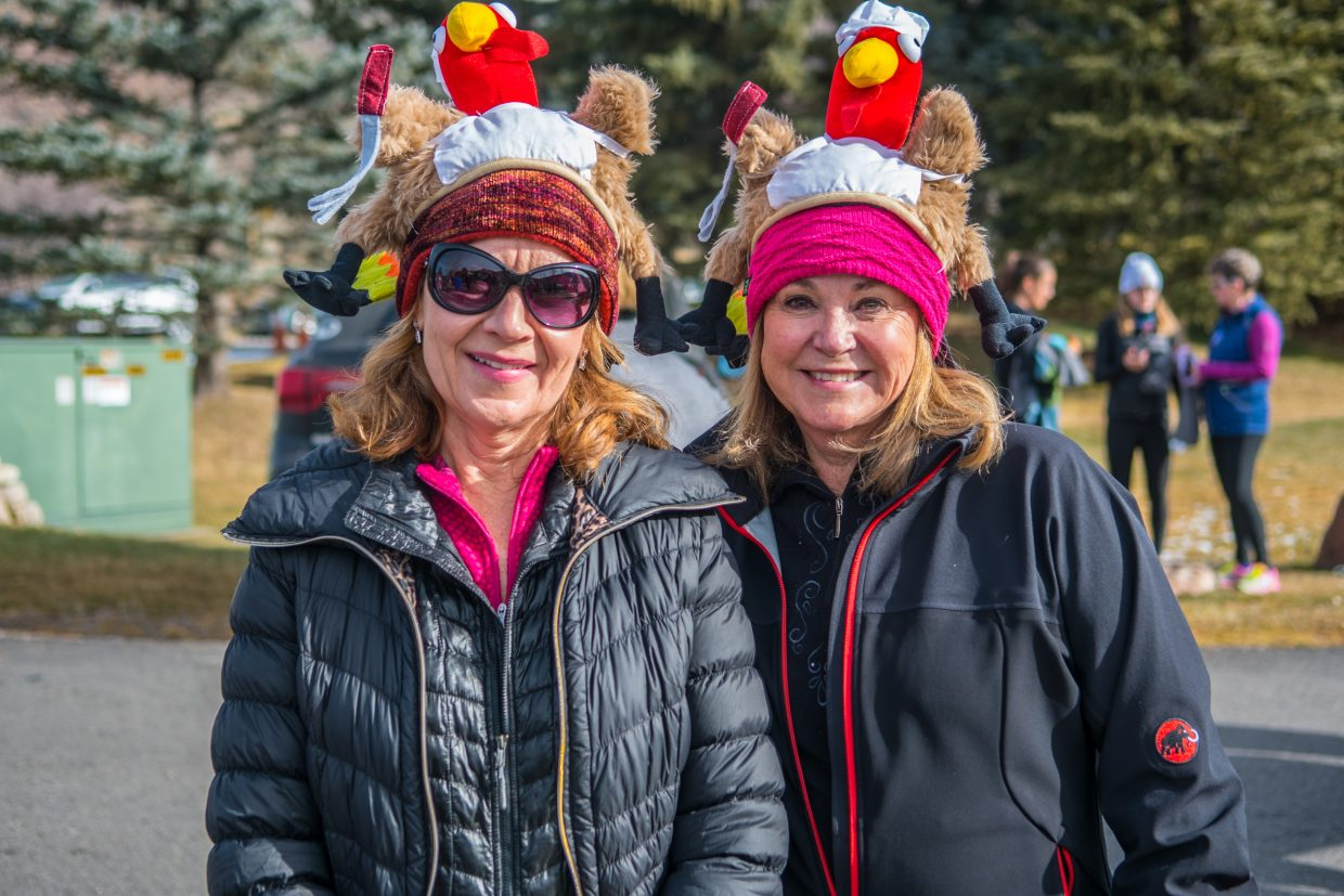 Julie Retzlaff and Theresa Desch pose together after completing the run.