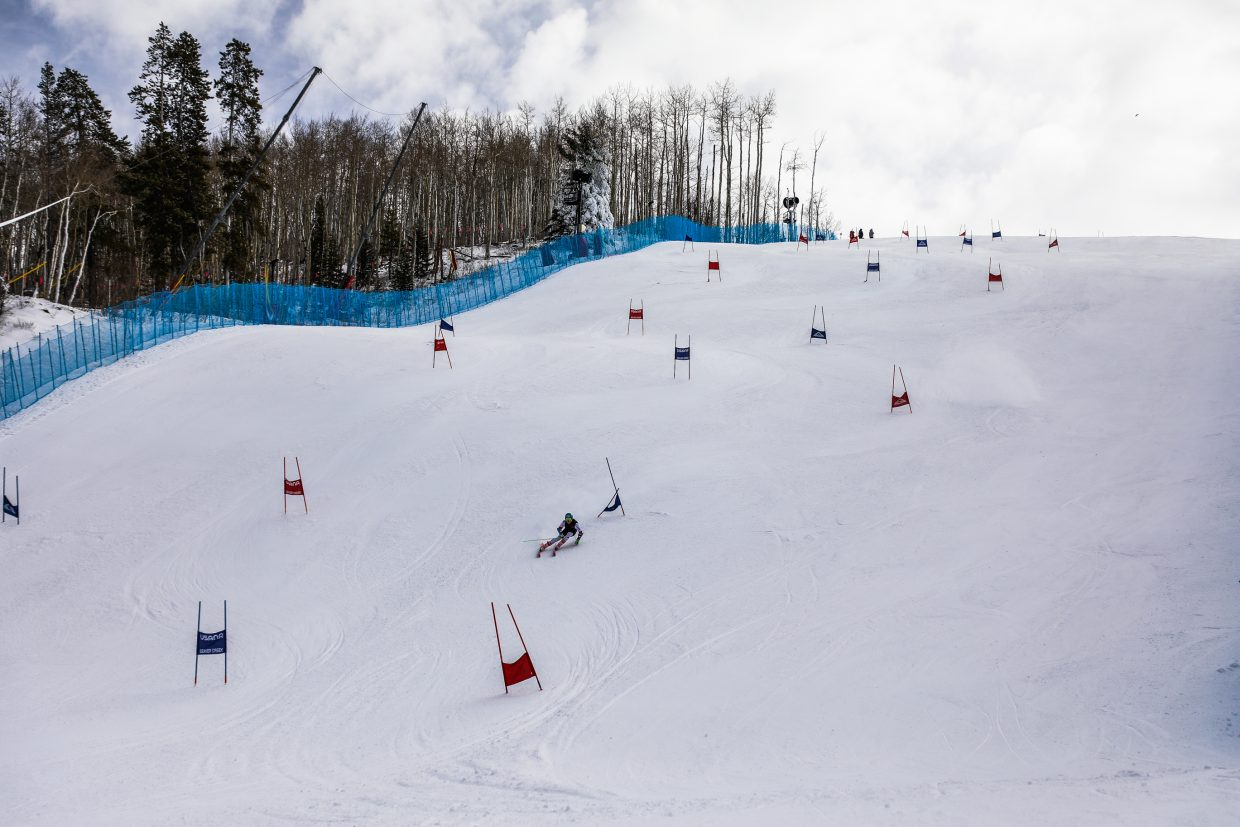 The course is set on the Golden Peak Training Center Monday, Nov. 20, in Vail. The center opened for training Monday.
