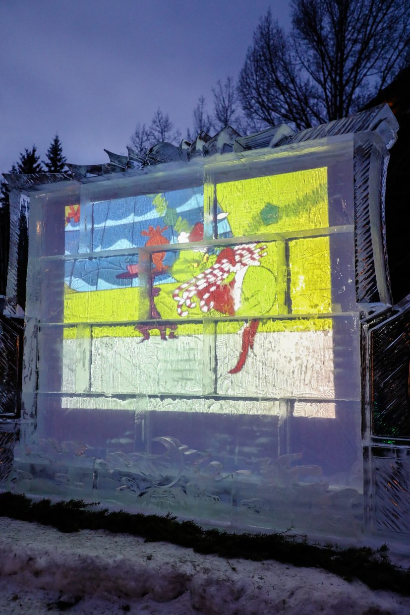 The Ice Theater shows the original How the Grinch Stole Christmas on Friday, Dec. 22, in Vail. The Ice Theater will continue to evolve as more snow falls.