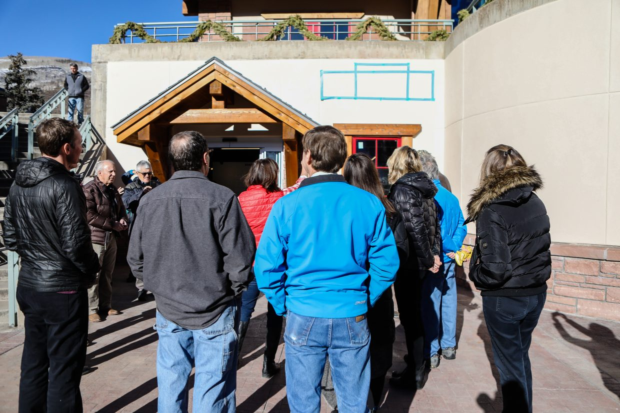 Council members give opinions on how the new sign should look on the outside of the Colorado Ski & Snowboard Museum on Tuesday, Jan. 16, in Vail.