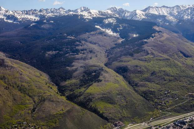 Looking at the proposed new wilderness section called Spraddle Creek, which would be added to the Eagles Nest Wilderness area north of Vail if the Continental Divide Recreation, Wilderness and Camp Hale Legacy Act is passed in Congress. This section of wilderness would come right down to Vail and would protect migrating animals at lower elevations.