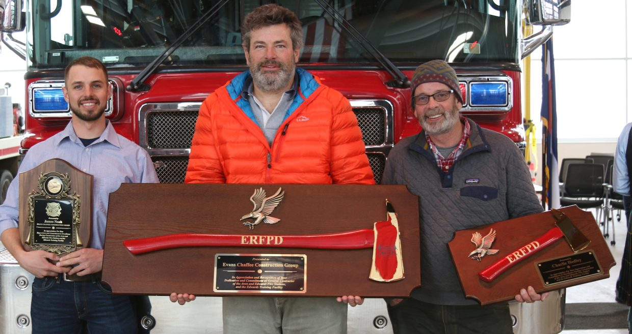 Evans Chafee was among the supporters and local firms honored for their work on Station 12.