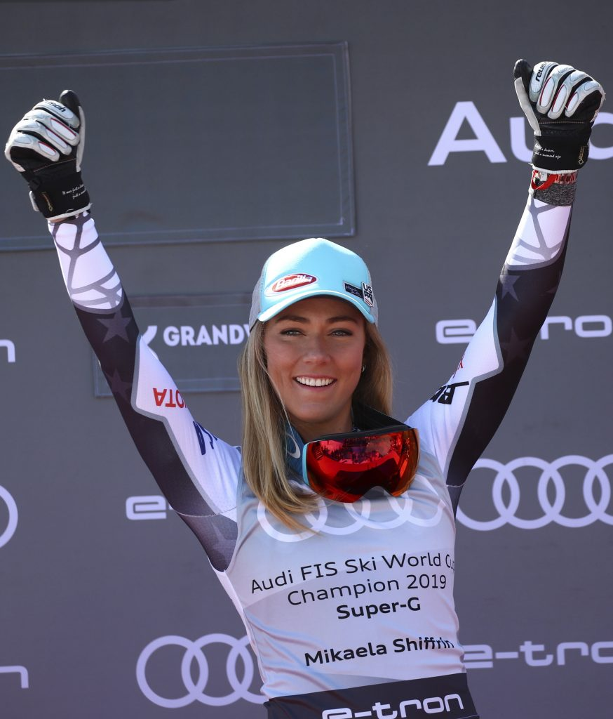 Next up for Mikaela Shiffrin is slalom on Saturday and giant slalom on Sunday at the World Cup finals in Soldeu, Andorra.