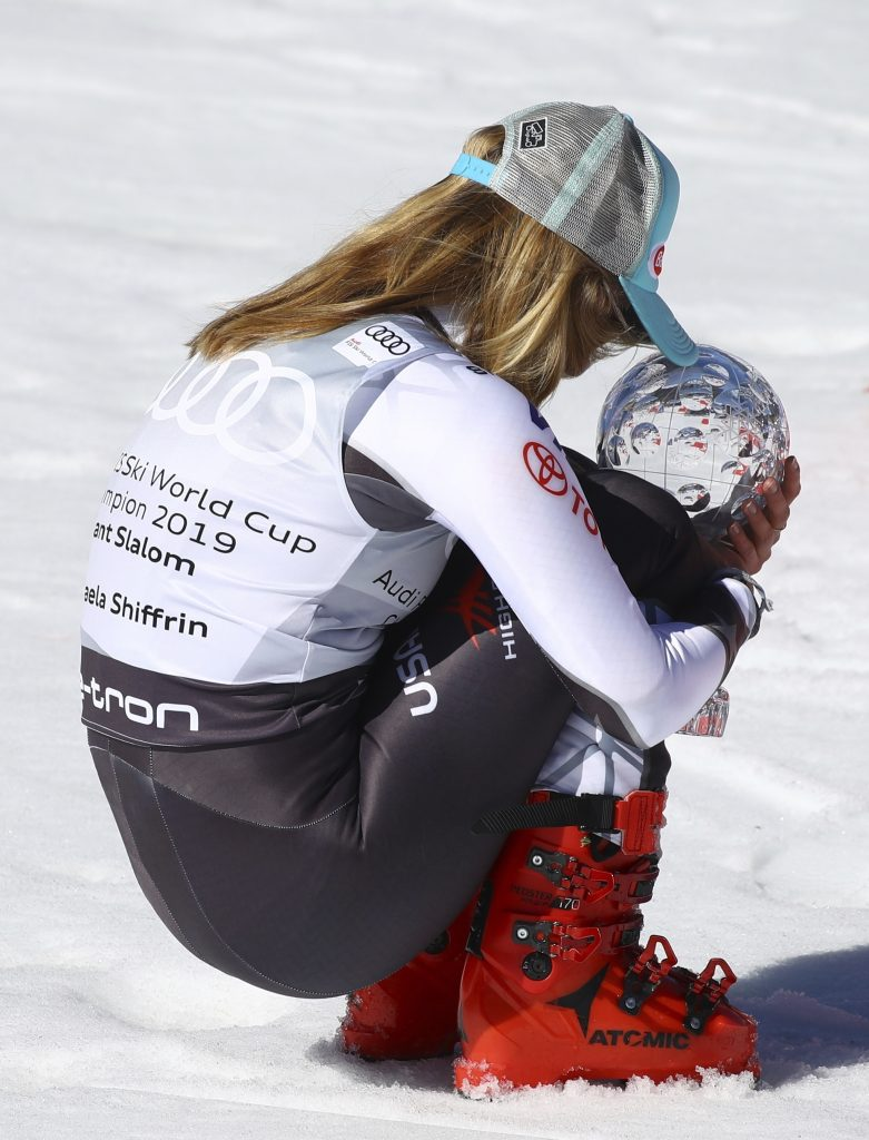 Mikaela Shiffrin caps the 2018-19 World Cup season in smashing fashion, winning the World Cup finals giant slalom to win the season title in that discipline for the first time on Sunday in Soldeu, Andorra.
