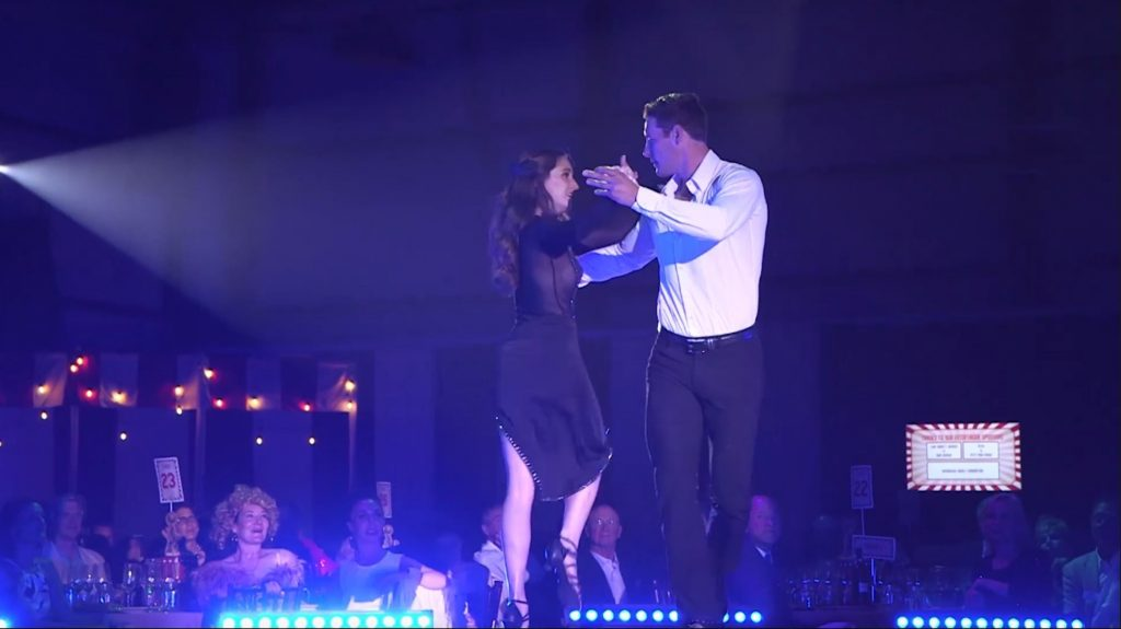 Celebrity dancer Mike Testwuide and professional dance partner Danielle Barry performed the tango at the 11th annual Star Dancing Gala.