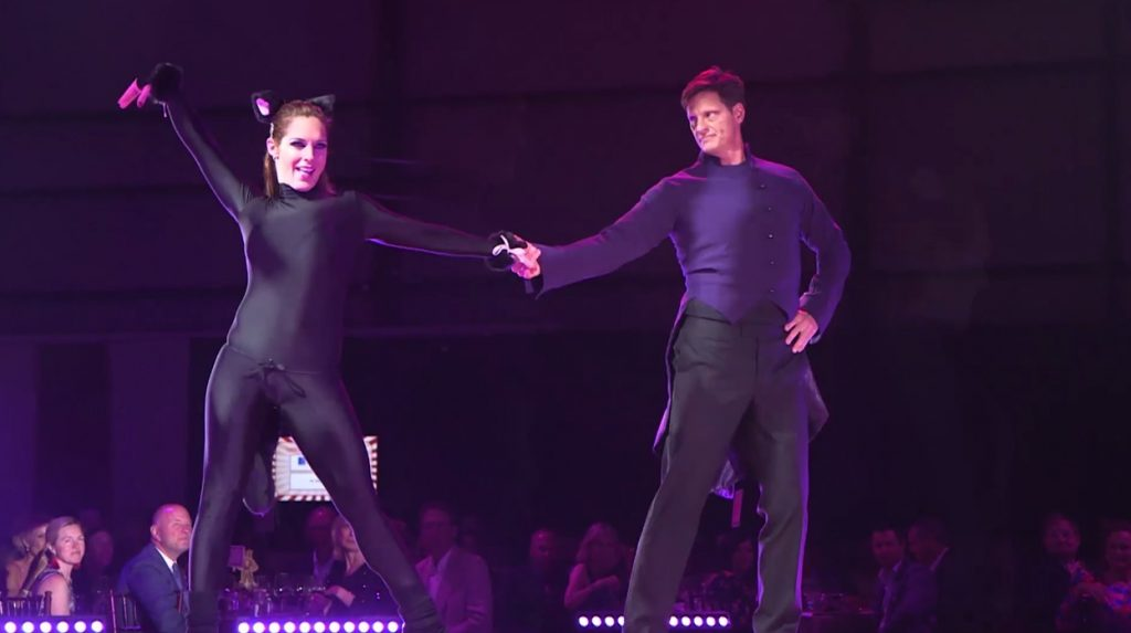 """Celebrity dancer Dr. Charlie Meynier and pro dance partner Amy Wentworth did a little foxtrot to the song """"Everybody Wants to Be a Cat"""" at this year's Star Dancing Gala, a benefit for YouthPower365."""