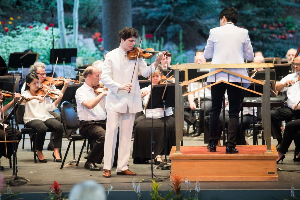 Violinist Augustin Hadelich will perform with The New York Philharmonic on Friday.