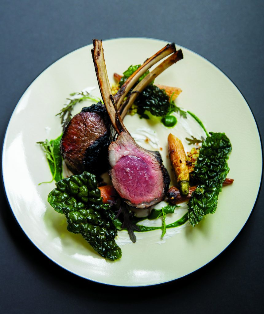 Colorado Lamb, carrot, yogurt, kale, quinoa, lemon, vadouvan.