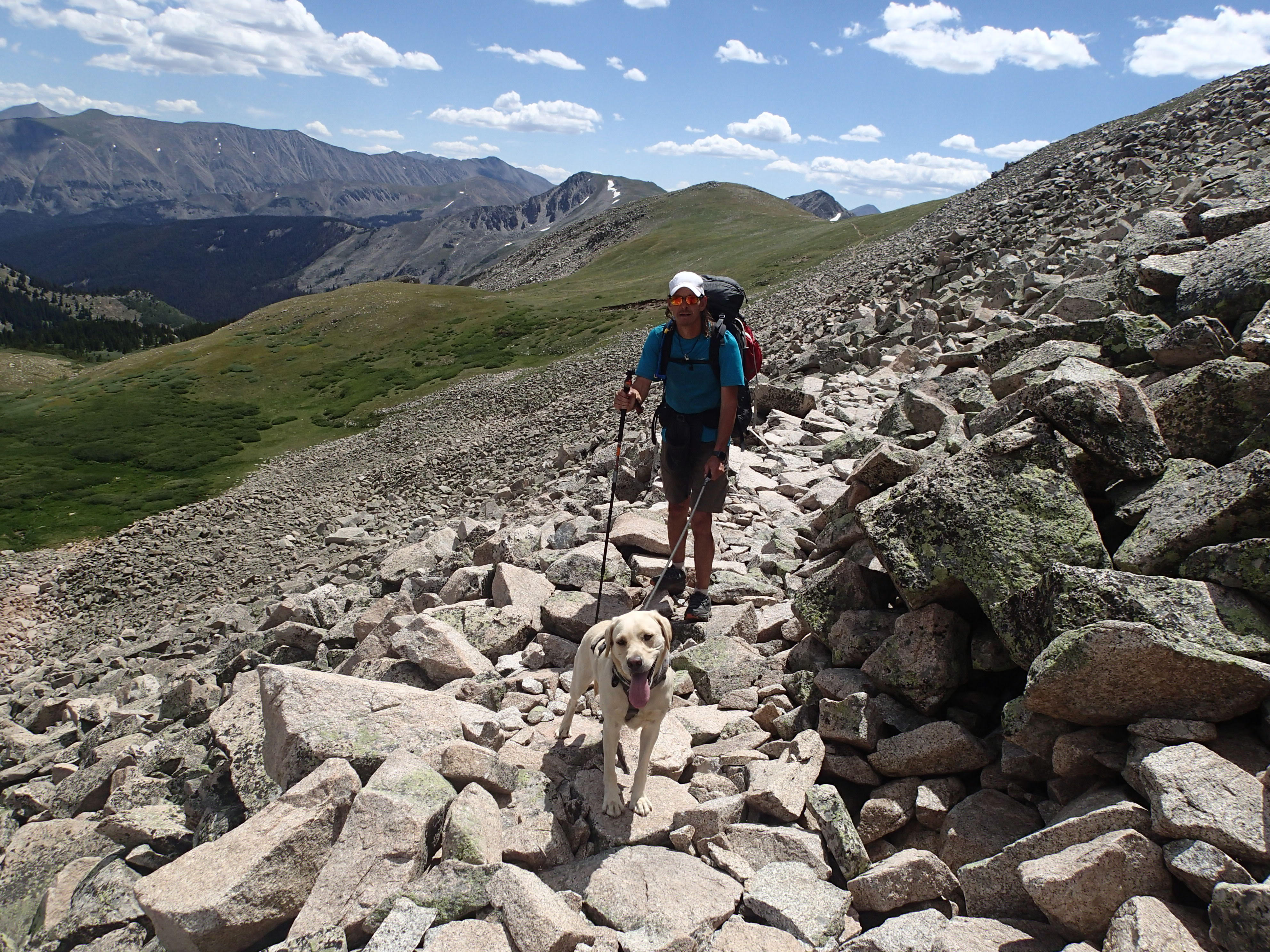 He climbed and descended 50,000 vertical feet for 13 days — blind. His dog, Lulu, showed him the way.
