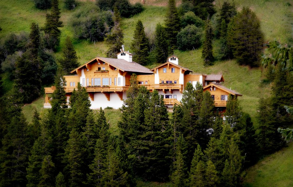 In Vail, Colorado. Game Creek Chalet from across Game Creek Bowl