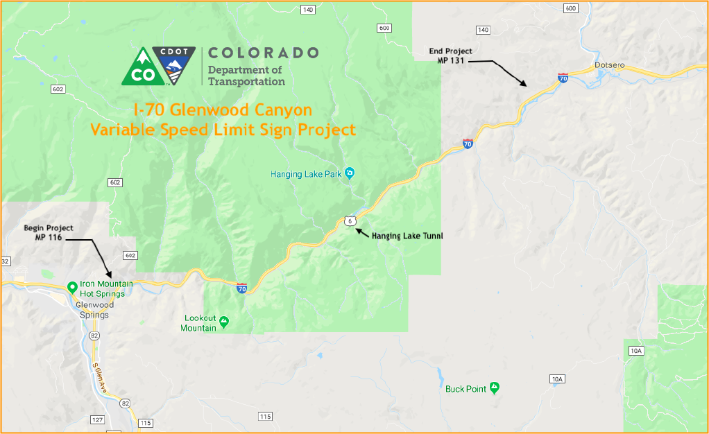 Speed limit increase coming for I-70 through Glenwood Canyon