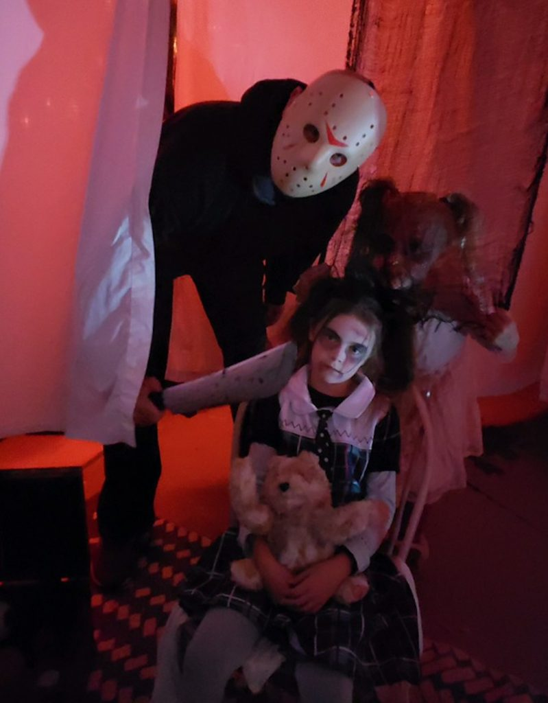 Silas Lovgren and a bunch of family and friends host a haunted house to help the Eagle Masonic Lodge's toy drive.