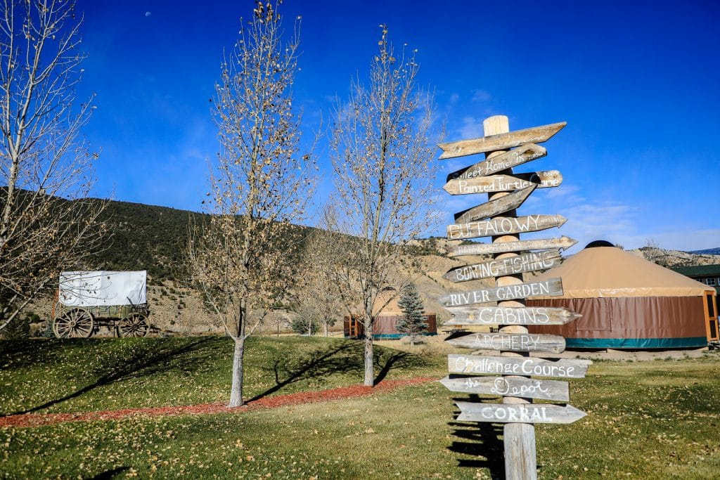 All signs point to fun at Roundup River Ranch outside of Dotsero in Eagle County.