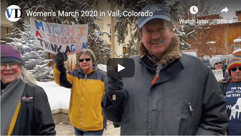 VIDEO: Women's March 2020 in Vail