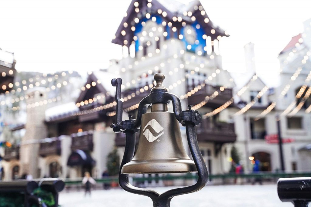 The new bells are custom-made and are rung each day at 3 p.m. on Vail Mountain. The tradtiion connects back to Vail's European influence.
